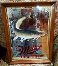 Miller Beer Mirror Wildlife Sportsman Series Muskie Fishing 1St Edition