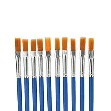 EG_ 10Pcs Kids Detail Paint Brushes Nylon Watercolor Drawing Painting Brushes Ti