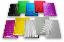 More details for bubble bags padded metallic foil lined envelopes jiffy mailing shiny wrap gift