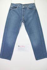 Levis 501 (Cod. N595) tg52 W38 L36 jeans usato ACCORCIATO vintage Streetwear