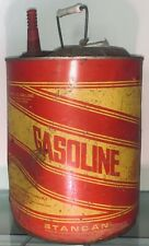 New listing Vtg Retro Round Metal Stancan / Standard Container Co 5 Gallon Gasoline Gas Can
