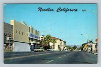 Needles CA, Hobson's Market, Shell Gas Station, Chrome California c1971 Postcard