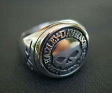 Harley Davidson Biker Ring Willie G Skull Emblem Silbern Schmuck 8-11 NEU