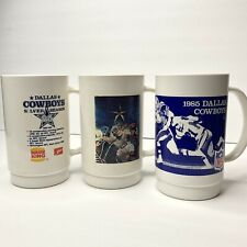 Dallas Cowboys Burger King Souvenir Plastic Cups 1983-1985
