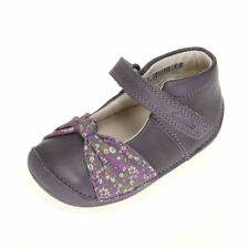 Clarks Little Nia Infants Heather Leather Shoes UK 2 EU 17.5 Fit: F CH10 35