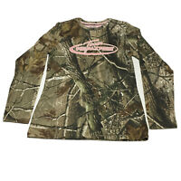Realtree Tshirt Womens Sz S 4 6 Camo Pink Long Sleeve