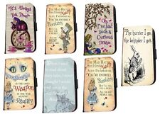 Alice in Wonderland Inspired Bonkers quotes leather phone case Huawei Samsung