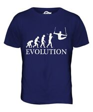 GYMNASTICS RINGS EVOLUTION OF MAN MENS T-SHIRT TEE TOP GIFT CLOTHING