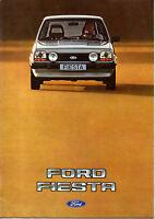 Catalogue depliant publicitaire FORD FIESTA 1982 XR2 S GHIA L JUNIOR