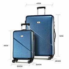 "2PCS Luggage Travel Bag Storage Suitcase Set Trolley TSA Lock Carry On 20""+28"""