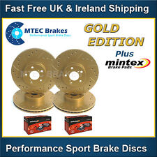 BMW E30 MTEC Gold Edition Drilled Grooved Brake Discs Front Rear & Mintex Pads