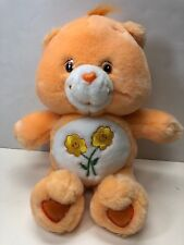 12� Care Bears Collection 2002 Orange Friend Bear With Flowers On Tummy No Tag
