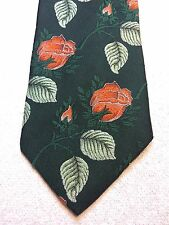 VINTAGE ARC DE TRIOMPHE MENS TIE 4.25 X 57 GREEN WITH LIGHT GREEN AND ORANGE