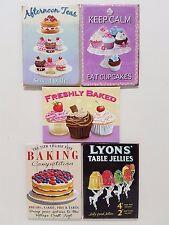 Baking Cakes Kitchen Cafe Sweet Cream Tea Cooking Novelty Fridge Magnet Gift Set