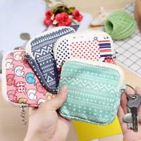 Women Small Mini Cartoon Wallet Card Key Holder Zip Coin Purse Clutch Cloth Bag