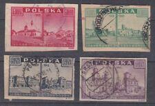 lot timbres Pologne 1945 Varsovie