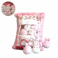1 Bag Plush Mini Dolls Pudding Plush Toys Simulation Innovative Snacks Doll Soft