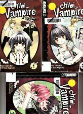 Chibi Vampire: THE NOVEL Manga #1-3 Tokyopop Yuna Kagesaki Tohru Kai EX-LIBRARY
