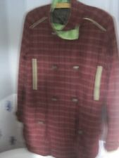 PUFFA TWEED WOOLLEN TARTAN COAT(LARGE)