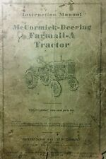 "Farmall ""A"" Tractor 1940 Operators, Service Repair & Parts Manual 84pg McCormick"