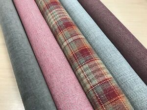 TARTAN FABRIC CHENILLE UPHOLSTERY DESIGNER  MATERIAL MADE FOR NEXT 140CMS WIDE