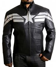 Winter Soldier Captain America Stylish Black Faux Leather Jacket.