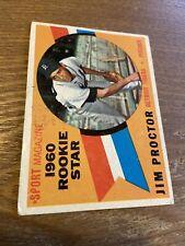 1960 Topps Jim Proctor #141 Detroit Tigers Vintage Baseball Card (fair)(m)