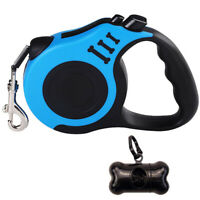 Dog Retractable Leash Cord 16.4 Ft, Upgrade with Anti-Slip Handle and Waste Z9S4