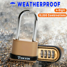 Long Digit Password Padlock Combination Zinc Alloy Security Warehouse Door Lock