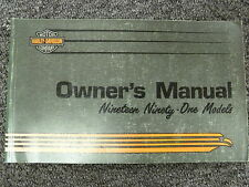 1991 Harley Davidson Electra Glide Classic Ultra Tour Motorcycle Owner Manual