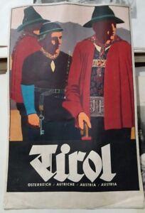 Años 20 Cartel Tirol Osterreich Autrice Austria Tirolo cm. 47x30