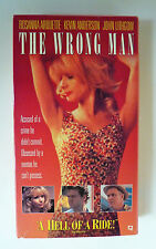 The Wrong Man VHS 1994 Rosanna Arquette Kevin Anderson Rare OOP No DVD Ex-rental