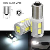 2Pcs BAX9S H6W 10 SMD DC 12V Car LED Sidelight Bulb For BMW 3 Series F30 F31 HOT