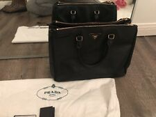 Authentic Prada Saffiano Double Zip Tote Black