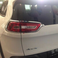 ABS Chrome Tail Light Rear Lamp Backup Cover Trim For Jeep Cherokee 2014 2015