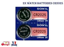 2X Pile CR2025 Lithium 3V SONY Pile bouton QUALITÉ PREMIUM SONY 2 pièces