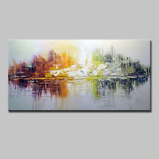 Hand Painted On Canvas Oil Paintings Modern Abstract Palette Knife Oil Painting