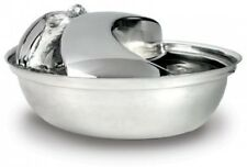 Dog Cat Water Fountain Bowl Stainless Steel Circulating Filtered Drinking Water