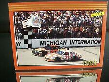 Dale Jarrett Citgo Maxx Race Cards Michigan Win Memorable Moment 1992 Card #198