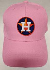 Houston Astros Applique, Heat Applied on PINK Baseball cap hat! Adjustable!
