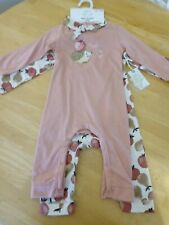 Free Planet Baby Girl Set of 2 One-Piece Rompers w/headband/Nwt/Size 12 Months