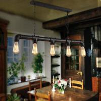 Industrial Vintage Ceiling Lights Metal Pipe Retro Loft Pendant Lamps Steampunk