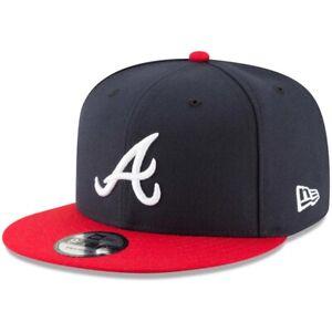 2021 Atlanta Braves A New Era 9FIFTY MLB Snapback Hat Cap Flat Brim 2Tone 950