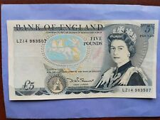 More details for bank of england old five pound £5 note cashier somerset lz14 983507 *freepost*