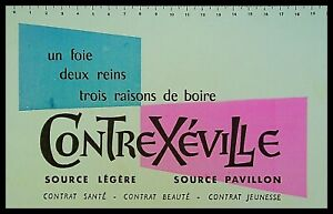 Buvard Publicitaire, CONTREXEVILLE - Source légère - Source Pavillon