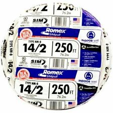 4 SOUTHWIRE Romex 250-ft 14-2 600v & 14 AWG Non-metallic White Wire With Ground