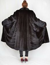 US26 Beautiful Mink Fur Coat Jacket Full Length Female Skins Nerzmantel ca. XL