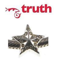 Genuine TRUTH PK 925 sterling silver CRYSTAL STAR charm bead celestial horoscope