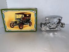 """Avon Car Decanter """"Touring T"""" Deep Woods After Shave Cologne Silver Car 1978"""