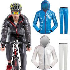 Mens Bike Cycling Raincoat Waterproof Hiking Rain Jackets Mtb Bicycle Rain Coat